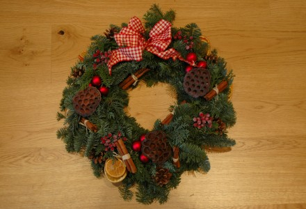 real door wreath