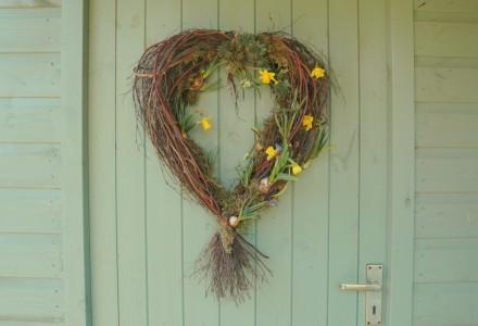 heart spring wreath