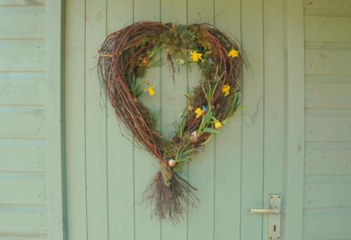 heart spring wreath
